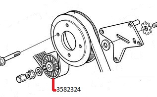 Volvo Penta 3582324 Water Pump and Compressor Belt